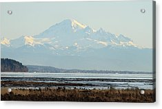 Mount Baker From Boundary Bay Acrylic Print by Pierre Leclerc Photography