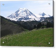 Acrylic Print featuring the photograph Mount Baker From The Skyline Divide by Karen Molenaar Terrell