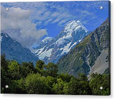 Acrylic Print featuring the photograph Mount Cook by David Gleeson