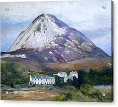 Mount Errigal Co. Donegal Ireland 1997 Acrylic Print by Enver Larney