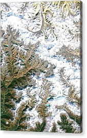 Mount Everest  Acrylic Print by Planet Observer and Photo Researchers