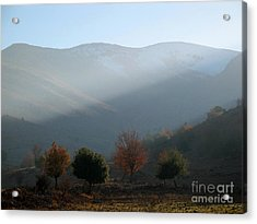 Mount Hermon In Fall Acrylic Print by Issam Hajjar