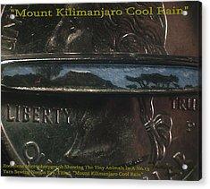 Mount Kilimanjaro Cool Rain  Acrylic Print