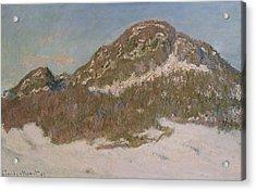 Mount Kolsaas In Sunlight Acrylic Print by Claude Monet