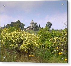 Mount Of Beatitudes Acrylic Print by Daniel Blatt