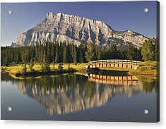 Mount Rundle And Cascade Ponds, Banff Acrylic Print by Darwin Wiggett