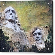 Mount Rushmore - My Impression Acrylic Print by Jeff Burgess