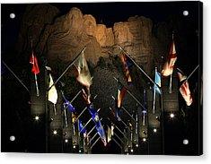 Acrylic Print featuring the photograph Mount Rushmore By Night by Paul Svensen