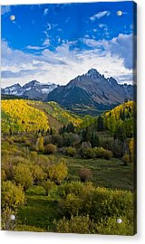 Mount Sneffels Under Autumn Sky Acrylic Print