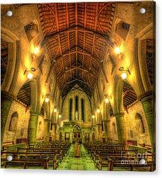 Mount St Bernard Abbey - The Nave Acrylic Print by Yhun Suarez
