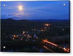 Mount Sugarloaf Full Moon Over Sunderland Acrylic Print
