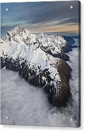 Mount Tutoko At Dawn In Fiordland Np Acrylic Print by Colin Monteath