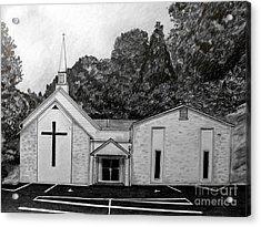 Mount Union Church Of The Brethren Acrylic Print by Julie Brugh Riffey