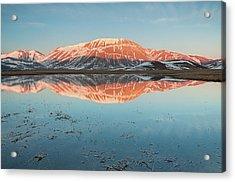 Mount Vettore Acrylic Print by Photographer  Renzi Tommaso  tommyre00@hotmail.it