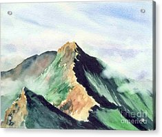 Acrylic Print featuring the painting Mountain  1 by Yoshiko Mishina