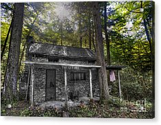 Mountain Cabin Acrylic Print by Dan Friend