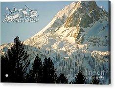 Mountain Christmas 2 Austria Europe Acrylic Print by Sabine Jacobs
