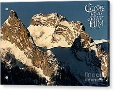 Mountain Christmas Austria Europe Acrylic Print by Sabine Jacobs