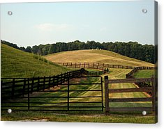 Mountain Farmland Acrylic Print