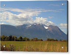 Mountain Field Acrylic Print by Kim French
