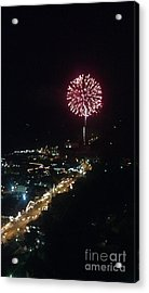 Acrylic Print featuring the photograph Mountain Fireworks by Janice Spivey