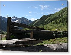 Mountain Ghost Town Acrylic Print by Marta Alfred