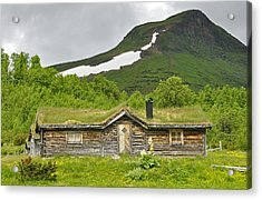 Mountain House Acrylic Print by Conny Sjostrom