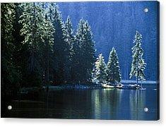 Mountain Lake In Arbersee, Germany Acrylic Print by John Doornkamp