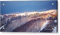 Mountain Landscape In Brasov County Acrylic Print by Gabriela Insuratelu
