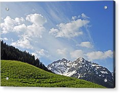 Mountain Landscape In The Alps Acrylic Print by Matthias Hauser
