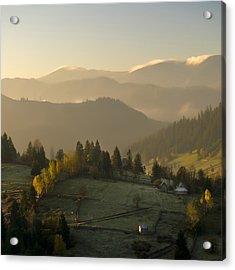 Mountain Landscape Acrylic Print by Ovidiu Bastea