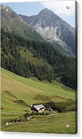 Acrylic Print featuring the photograph Mountain Landscape by Raffaella Lunelli