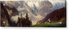 Mountain Landscape With The Grossglockner Acrylic Print by Nicolai Astudin