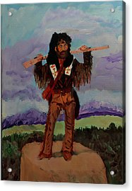 Mountain Man Acrylic Print by Swabby Soileau