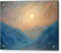Mountain Mist Acrylic Print by David Wiles