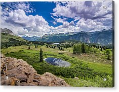 Mountain Pass Acrylic Print by Chris Multop