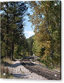 Mountain Railroad Acrylic Print by George Hawkins
