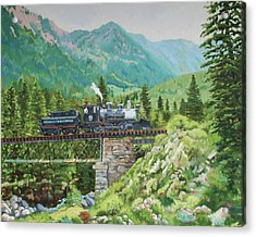 Mountain Railroad Acrylic Print