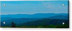 Mountain Range Acrylic Print by Debra     Vatalaro