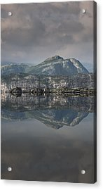 Mountain Reflection Acrylic Print by Andy Astbury