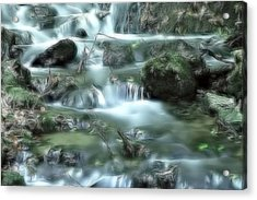 Acrylic Print featuring the digital art Mountain River Dream by Odon Czintos