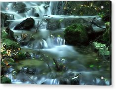 Acrylic Print featuring the photograph Mountain River by Odon Czintos