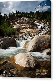 Acrylic Print featuring the photograph Mountain Stream by John Burns