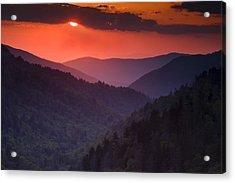 Mountain Sunset Acrylic Print by Andrew Soundarajan