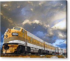 Mountain Train Acrylic Print