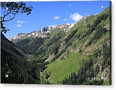 Mountain Valley Acrylic Print by Marta Alfred