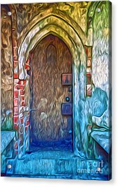 Acrylic Print featuring the painting Mountain View Cemetery Tomb - Number 2 by Gregory Dyer