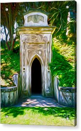 Mountain View Cemetery Tomb - Number 4 Acrylic Print by Gregory Dyer