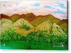 Mountain View Of Ecuador Acrylic Print