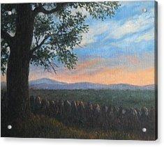Mountain View Sunset Acrylic Print by Oksana Zotkina